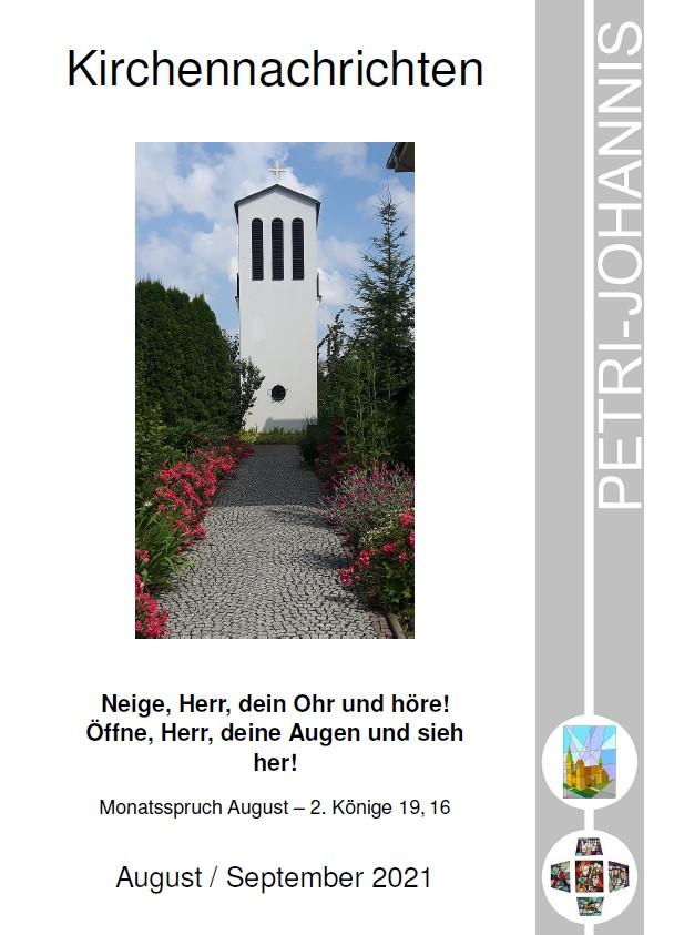 Titelblatt der aktuellen Kirchennachrichten